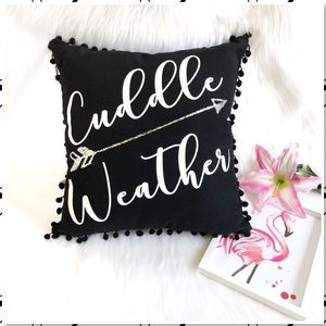 Other - Cuddle Weather Decorative Throw Pillow NEW